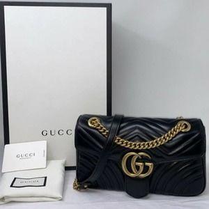 ✨💖Guccı GG Black Marmont Small Matelassé Bag